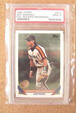 1993 Topps card Jeff Bagwell Houston Astros #227 PSA 9 Colorado Rockies logo IBM