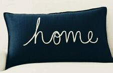 """Pottery Barn ~Home Sentiment~ lumbar PILLOW COVER~Embroidered 16x26"""" NWT"""