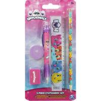 Hatchimals 5 Piece Stationery Set, sharpener, ruler, pencil, pen, rubber school.