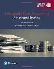 Horngren's Cost Accounting by  Madhav V. Rajan (GLOBAL EDITION)