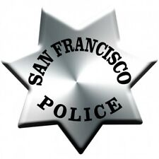 """San Francisco Police Department Badge All Metal Sign Without Number Plain 16"""""""