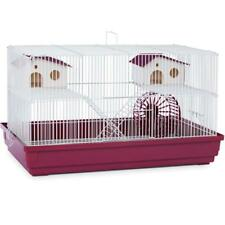 "Prevue Deluxe Hamster Gerbil Cage 22-1/2""L w/ Exercise Wheel, Double House Perch"