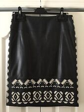 NWOT - Tory Burch Brianna Leather Skirt Navy - Size 6