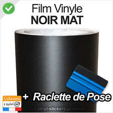 film covering noir mat thermoformable sticker adhésif 150cmx30 + raclette pro