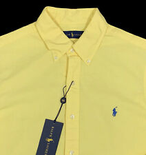 Men's RALPH LAUREN Yellow Pinpoint Cotton Shirt XXL NWT NEW WoW!