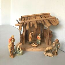 Anri Wood-Carved 10 Piece Nativity Set – 3� Series – With Stable Creche – Italy