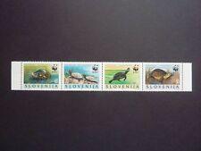 SLOVENIA WWF 1996 European pond turtle/terrapin stamp strip MNH Emys orbicularis