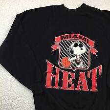 VTG Miami Heat 1971 Snoopy Sweater United Feature Syndicate Schulz Artex XL