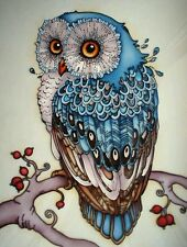 Owl Mosaic Diamond Painting Kit 30 x 40 cm like cross stitch Partial Paste