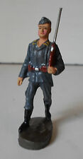 rare ELASTOLIN LINEOL grey uniform Luftwaffe marching soldier with rifle