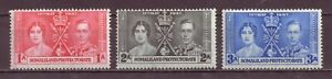 Somaliland Protectorate, Coronation of King George VI, Set of 3, MH 1937 OLD
