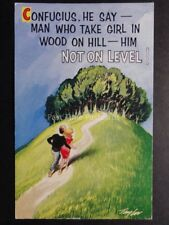 Taylor: Bamforth & Co CONFUCIUS SAY 'MAN WHO TAKE GIRL IN WOOD ON HILL'