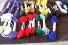 VTG Bucilla Persian Needlepoint Crewel Wool Box 12 pcs Tangerine ~ 40 yd skeins