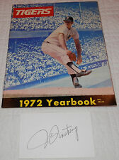 1972 Detroit Tigers Yearbook Jim Northrup Index Card 2 1972 Topps Tigers + PC
