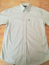 "Men's ROCKPORT shirt XL chest 44"" short sleeves 100% cotton chest pocket button"