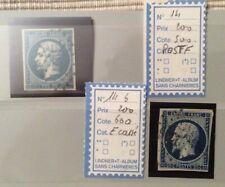 Timbre Empire Napoléon 14 variété bleu