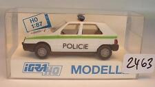 Igra / Rietze 1/87 626 Skoda Favorit Limousine Polizei Policie CZ OVP #2463