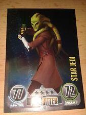 Force Attax Star Wars Serie 1 Star-Karte Nr.157 Kit Fisto Star Jedi Sammelkarte
