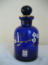 VINTAGE BOHEMIAN VCELNICKA A. RUCKL & SONS COBALT BLUE GLASS DECANTER