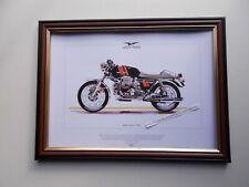 MOTO GUZZI 750S MOTOR CYCLING PRINT FRAMED