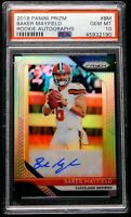 """2018 Silver Prizm Auto Rookie PSA 10 Baker Mayfield Autograph """"FLAWLESS"""" Browns"""