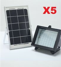5 Pack  Bizlander 60 LED Heavy Duty Solar Flood Light Security Light