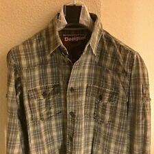 DESIGUAL Camisa Hombre Talla S / Checked Shirt Man Size S