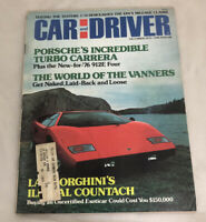 Car And Driver Magazine December 1975 Lamborghini Countach Porsche