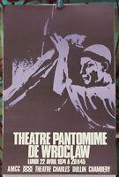 Affiche Originale ✤ Théâtre PANTOMIME de WROCLAW ✤ à Chambéry 1974