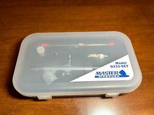 G233 Pro Set Master Gravity Airbrush Kit 3 Fluid Tips, Hobby Auto Paint Nail Art