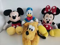 Disney Mickey Mouse and Friends Plush Bundle x4 Pluto, Minnie and Donald Duck