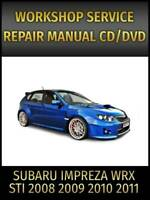 2011 Subaru Impreza Wrx Wrx Sti Workshop Oem Service Repair Factory Fsm Manual Ebay