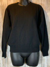 First Issue Women's Cashmere Sweater Crewneck Black Size Extra Small XS