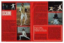 1974 DOCUMENT (ref SIL RAC 14) SPORT ESCRIME CHRISTIAN NOEL M.C DEMAILLE 2 p