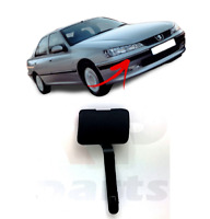 FOR PEUGEOT 406 1999-2004 NEW FRONT BUMPER TOW HOOK EYE COVER CAP BLACK