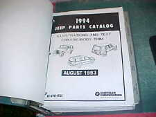 1994 JEEP CHEROKEE WRANGLER GRAND CHEROKEE ILLUSTRATED PARTS CATALOG near mint