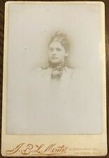 c1860s Cabinet Card Photograph Beautiful Aristocratic Young Woman JBL Monty