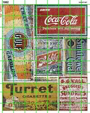 1002 DAVE'S DECALS HO GHOST SIGN SODA GAS OIL TOBACCO ADVERTISING