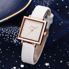 Women Fashion Leather Band Analog Quartz Square Quartz Wrist Watch Watches New