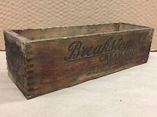 Vintage Antique BREAKSTONE'S advertising wood cream cheese 3lbs box NEW YORK NY