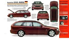 1998/1999 MERCEDES-BENZ C43 AMG SPEC Hoja / Folleto