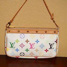 LOUIS VUITTON Multi Color Pochette Accessories Handbag Clutch Wristlet Purse 700