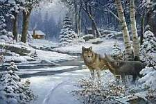 "George Kovach "" Return To Cabin Creek "" #370/1000 Mint (2005) Wolf Wolves"