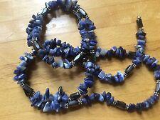 Lapislázuli Semi Precioso Azul Piedra Collar Pulsera hematita magnético Envolvente