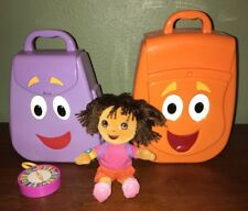 Mattel Dora The Explorer And Diego My Talking Backpacks Compass And Plush