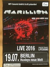 MARILLION 2016 BERLIN   ++  orig.Concert Poster - Konzert Plakat  NEU
