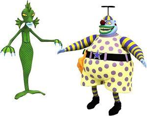 Nightmare Before Christmas - Clown With Tearaway Face & Undersea Gal Figure NBX