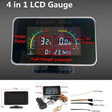 Voltmeter/Water Temp/Oil Pressure/Fuel Gauge w/Emperature + Oil Pressure Sensor