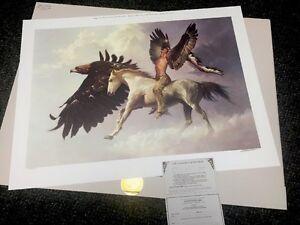 """CHUCK REN """" The Vision""""  Spiritual Protector S/# Lithograph Ed. of 1200 NIF <30"""""""