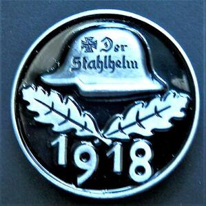 WW1 NEW GERMAN MILITARY BADGE 1918 DER STAHLHELM MODERN. REPRO.